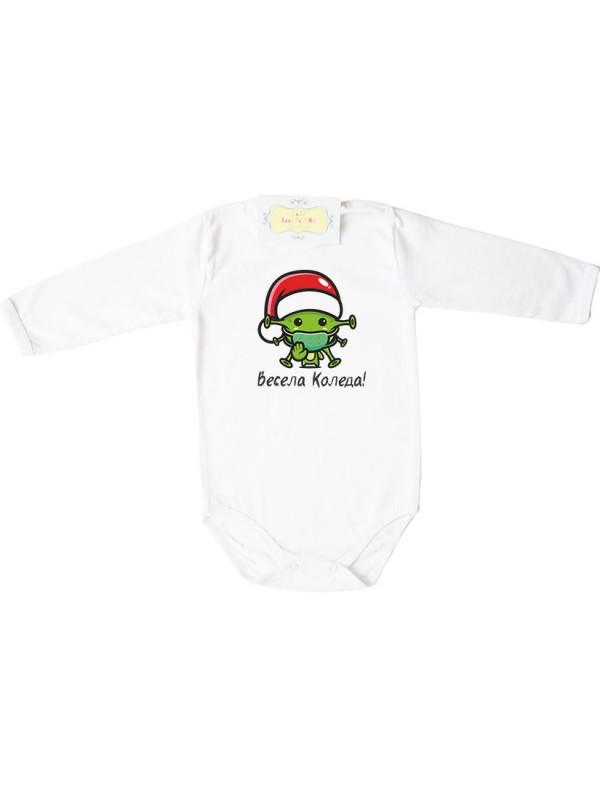 """Забавна коледна тениска или боди """"Весела Коледа!"""" Вирус"""