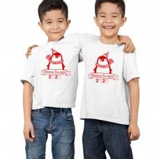 """""""Весела Коледа!"""" с пингвинче - забавна коледна тениска или боди"""