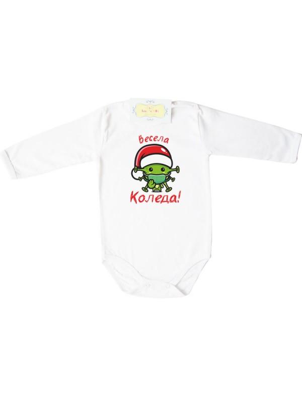"""Коледна тениска или боди """"Весела Коледа!"""" Вирус"""