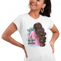 Дамска тениска Мама и Мини - Blessed mama