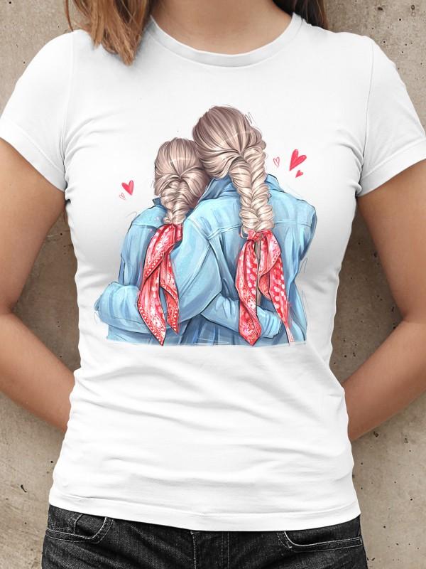 Дамска тениска Мама и Мини - Braids