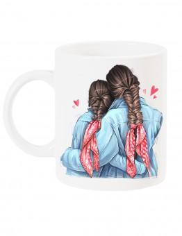 Чаша за мама с арт принт - Braids