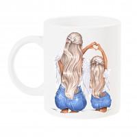 Чаша за мама с арт принт - #Angel - Mama & Mini
