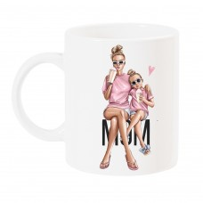 Чаша с арт принт MOM