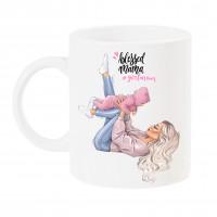 Чаша за мама с арт принт - #girlmom Blessed Mama