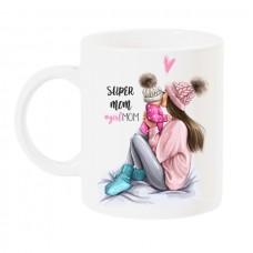 Чаша за мама с арт принт - GIRL