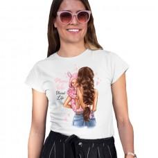 Дамска тениска  MAMA WIFE BLESSED LIFE - GIRL