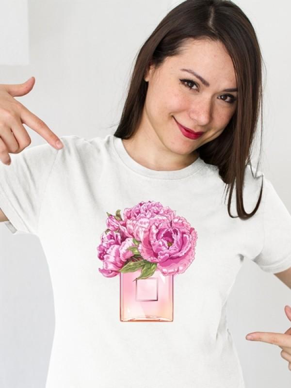"""Дамска тениска """"Божури"""""""