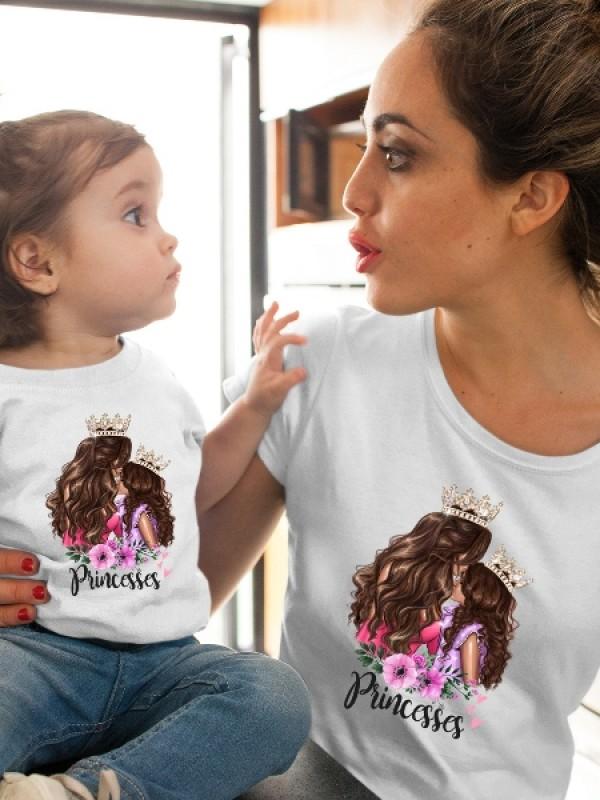 Сет за майка и дъщеря с арт принт Princesses