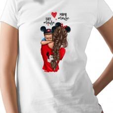 Дамска тениска Mama mouse - майка на момче