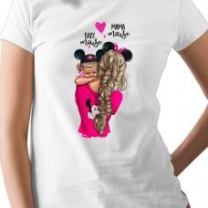 Дамска тениска Mama mouse - майка на момиче