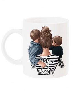 Чаша с арт принт за мама - MOM of  BOYS