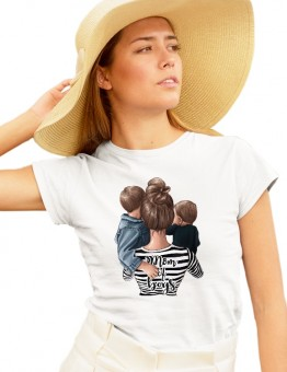 Дамска тениска MOM of  BOYS