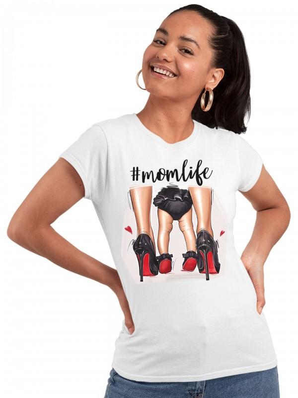 Дамска тениска Мама и Мини - #Momlife