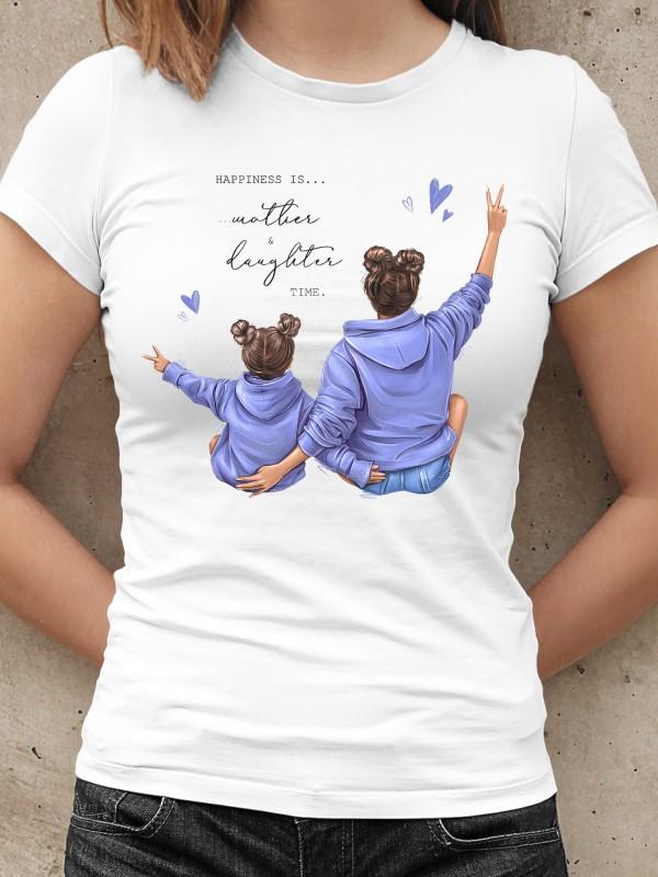 Дамска тениска Мама и Мини - Mother & Daughter time
