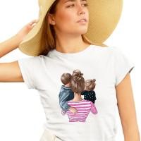 Дамска тениска МАМА - майка на момче и момиче