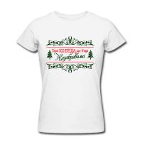 Дамска тениска с Коледна щампа
