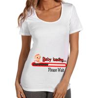 """Тениска Д002 за бременни ****  """"Baby loading"""" в червен цвят"""