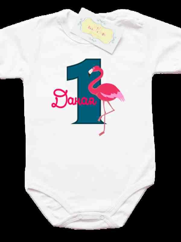 "Боди ""една годинка с фламинго"""