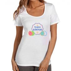 Дамска тениска с щампа за Великден