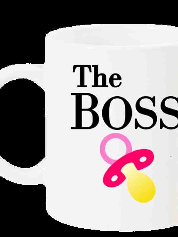 "Чаша с надпис ""The BOSS"""
