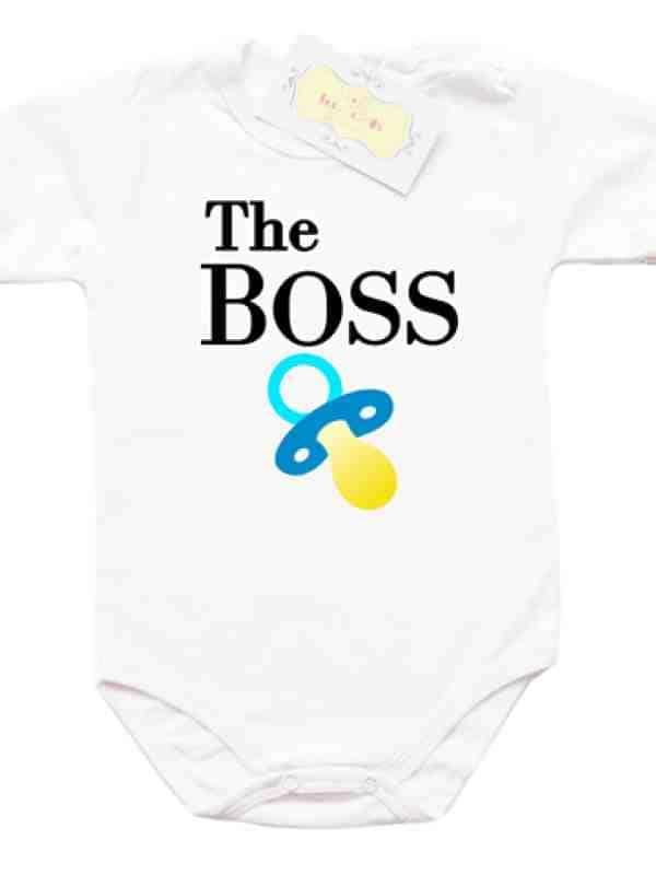"""Забавно боди с надпис """"The BOSS"""""""