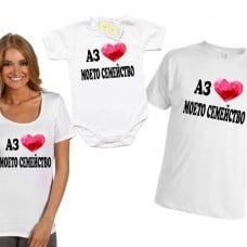 Семеен комплект от тениска за мама, тате и бебо