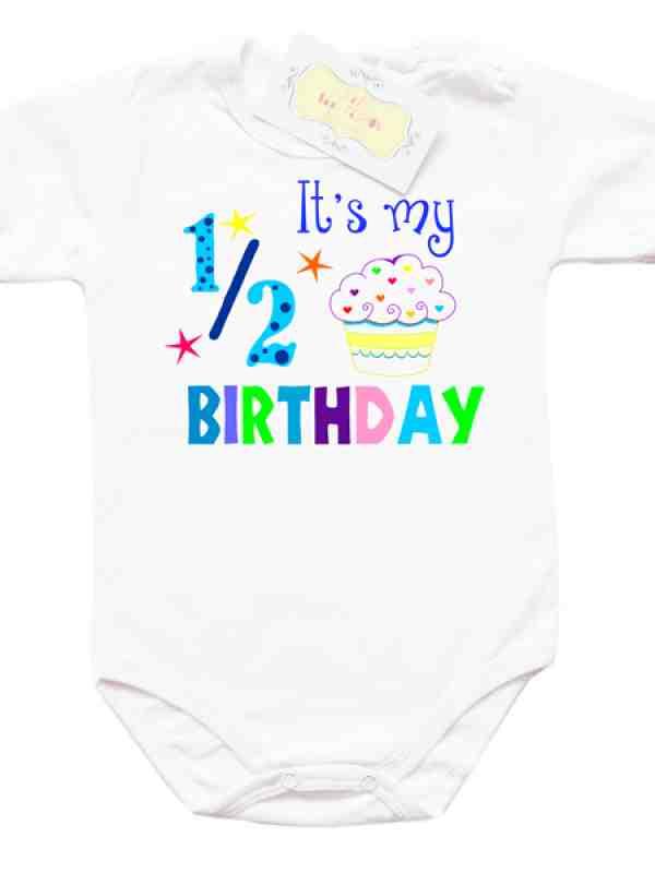 Забавно боди за 1/2 рожден ден за момче