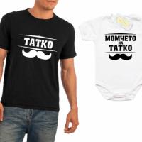 Боди + тениска за татко и син със забавен надпис
