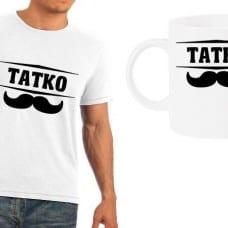 """Мъжка тениска + чаша """"Татко"""""""