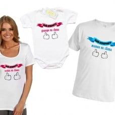 """Комплект тениски и боди """"Най-добрата майка, дъщеря и татко на света"""""""