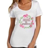 """Дамска тениска с надпис в розово """"Леля на годината"""""""