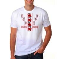 Мъжка тениска с народни шевици