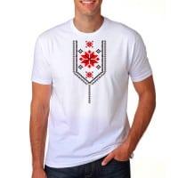 Мъжка тениска с шевици тип Яка