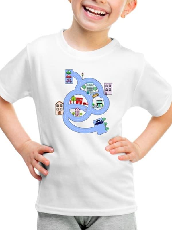 """Детска тениска """"Пътешествие из града"""""""