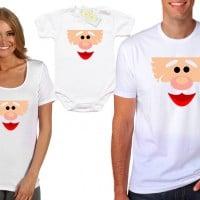 Семейни Коледни тениски с Дядо Коледа