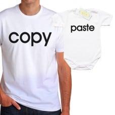 """Комплект със забавен надпис """"Copy/Paste"""""""
