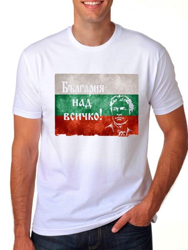 """Патриотична тениска с лик """" Левски"""""""