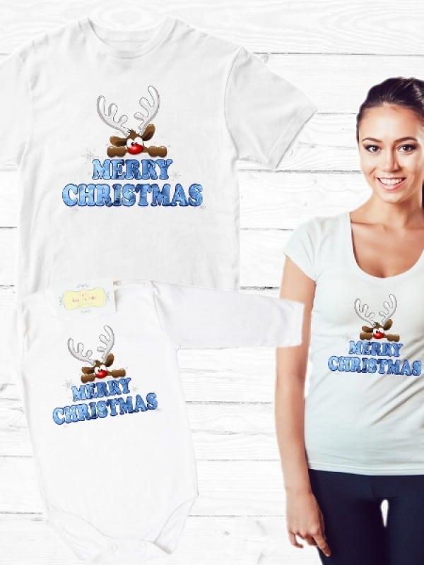 "Семеен комплект ""MERRY CHRISTMAS"" с еленче"