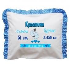 Бебешка възглавничка визитка със слонче - за момче