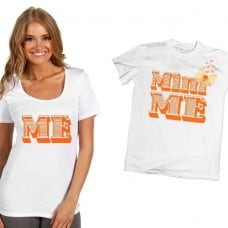 Тениски за майка и дъщеря със сладурска щампа